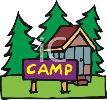 350x327 Camp Cabin Clip Art