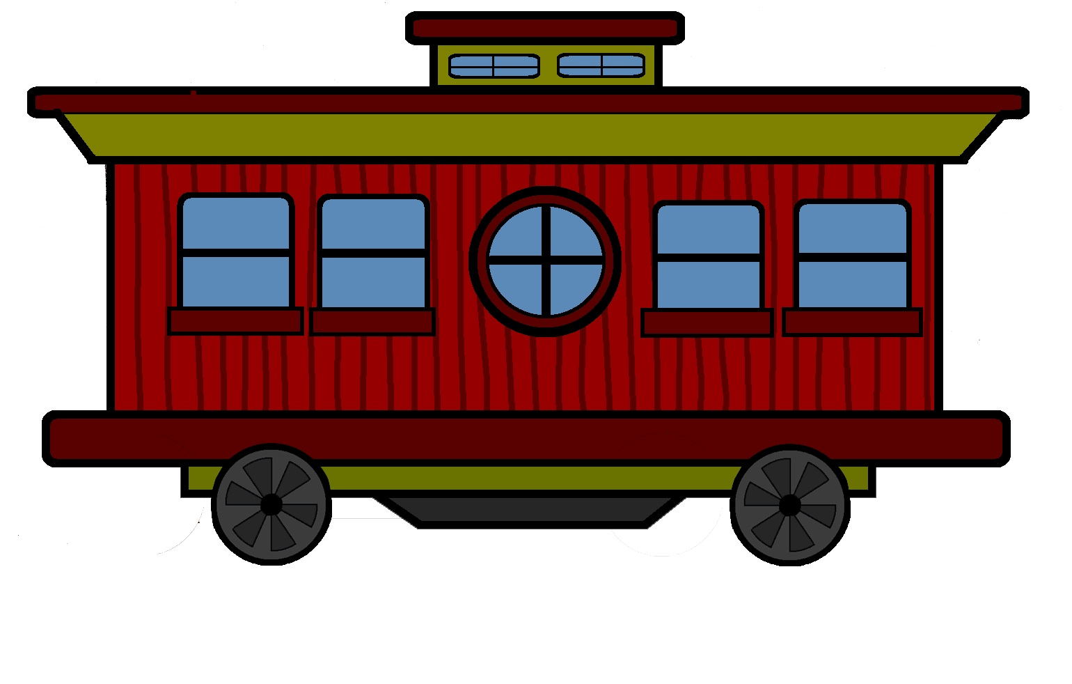Caboose Drawing At Free For Personal Use Art Train Engine Diagram Clipart