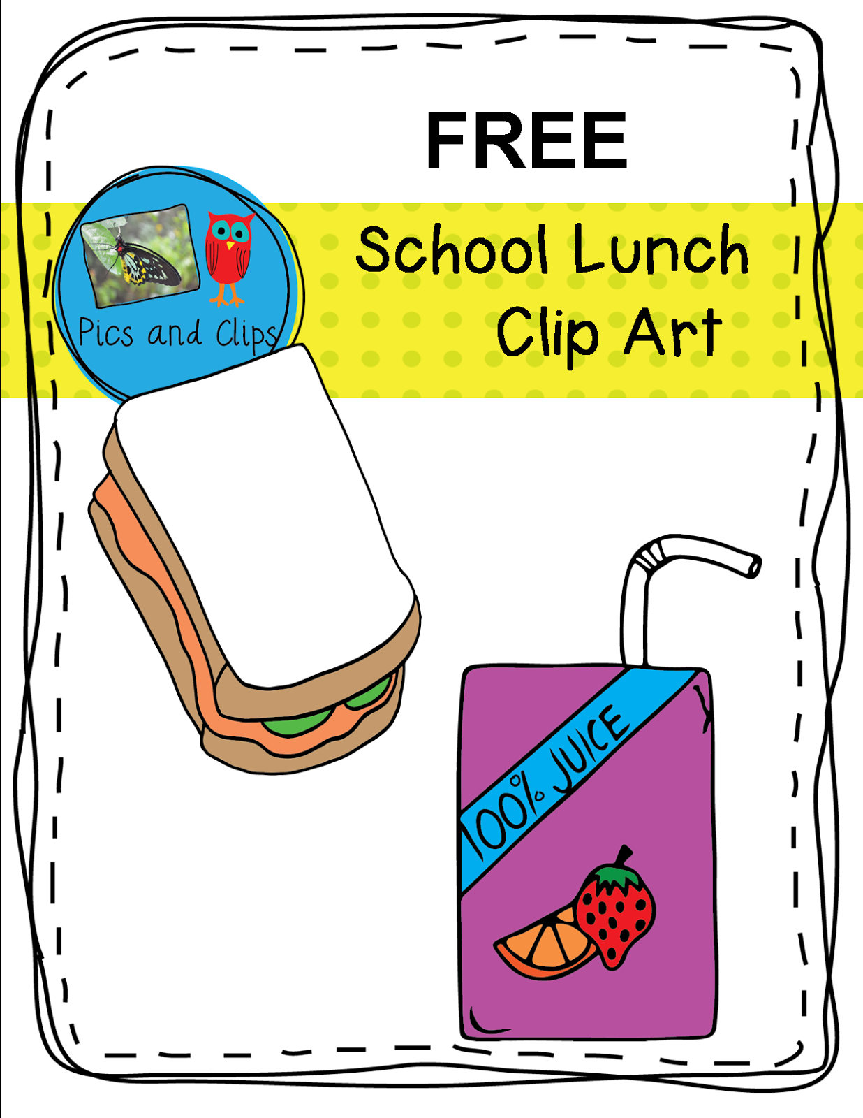 1236x1600 Free School Lunch Clip Art (Simply Learning Centers) School