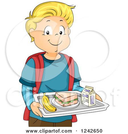 450x470 Royalty Free (Rf) Clipart Illustration Of School Children Eating