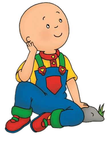 386x500 Caillou Daydreaming Transparent Png