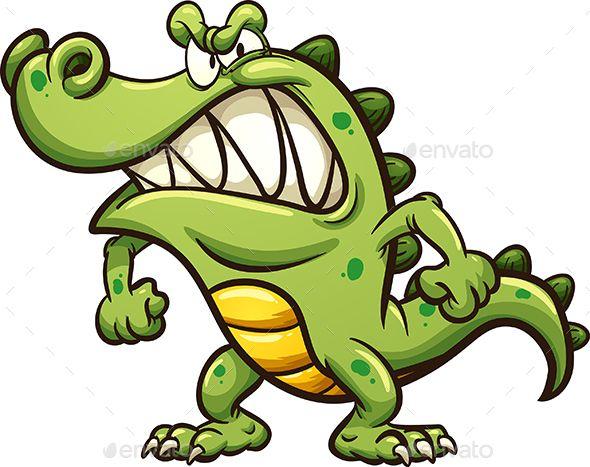 590x467 Angry Cartoon Crocodile Crocodile, Cartoon And Font Logo