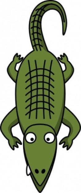 263x626 Crocodile Alligator Clip Art Clipartcow Image