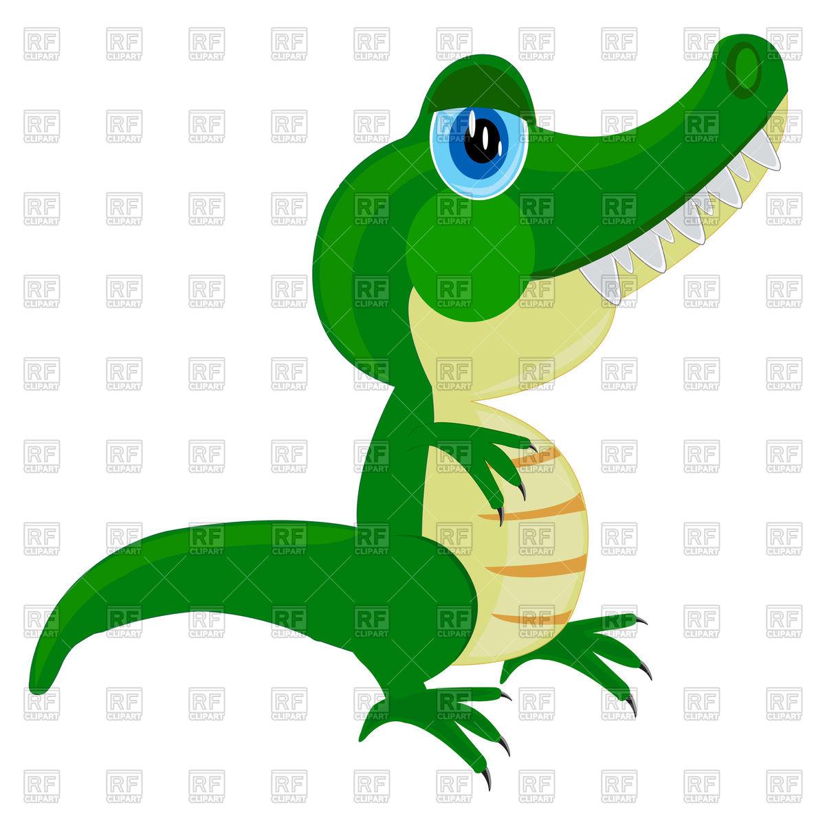 1200x1200 Cute Cartoon Crocodile Royalty Free Vector Clip Art Image