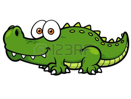 450x338 Vector Illustration Of Cartoon Crocodile School Projects