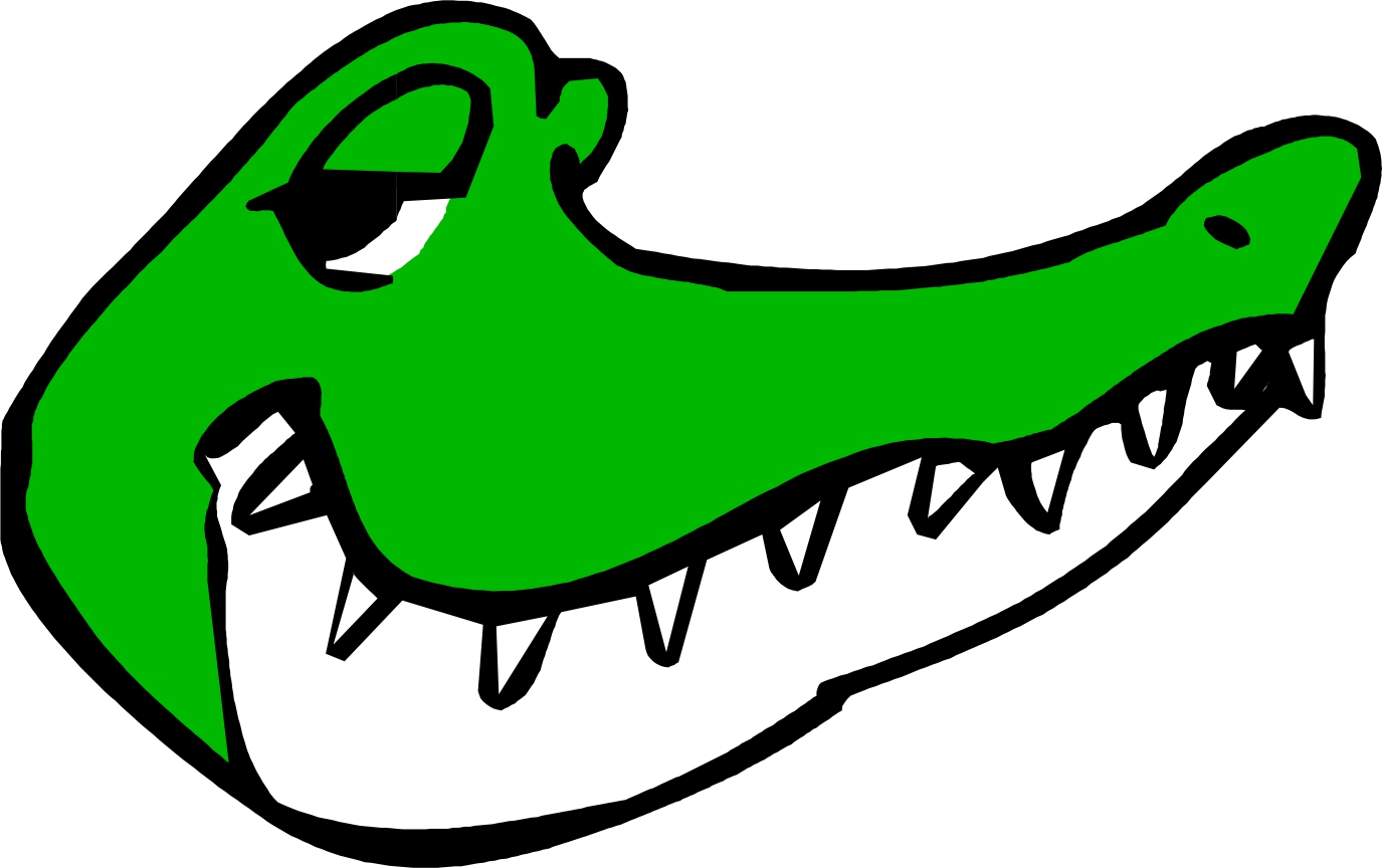 1375x864 Alligator Black And White Clip Art