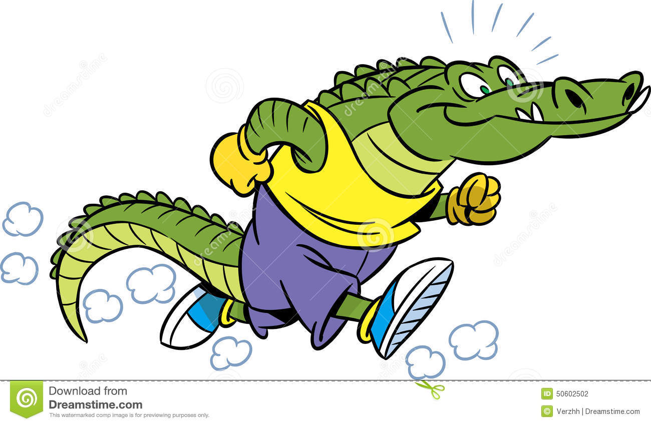 1300x849 Alligator Clipart Caiman Pencil And In Color Running