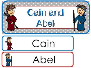 350x263 Cain And Abel Word Wall Bulletin Board Set. Preschool Bible