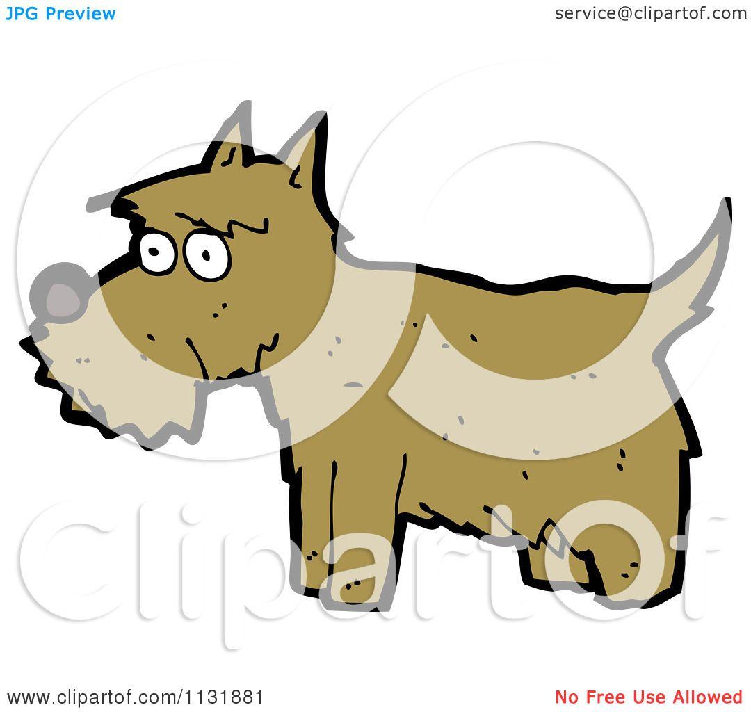 1080x1024 Cartoon Of A Brown Terrier Dog 1