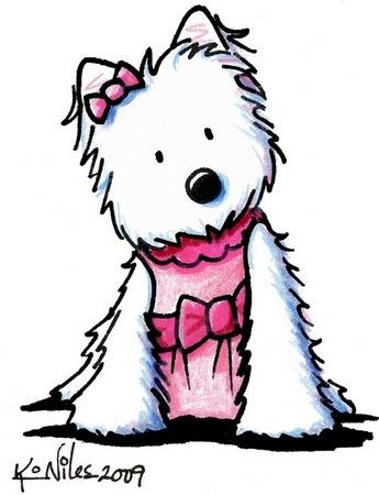 345x450 West Highland White Terrier Clipart