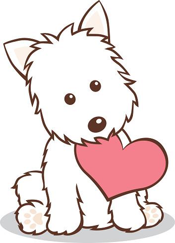 353x489 West Highland White Terrier Clipart