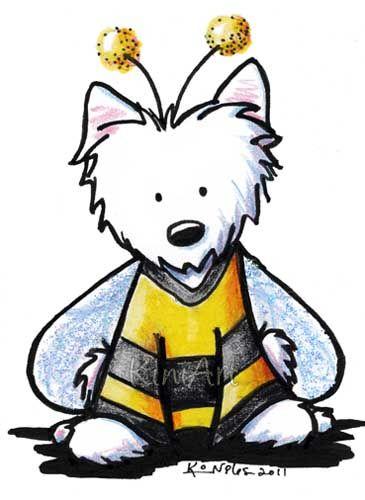 365x500 West Highland White Terrier Dibujo