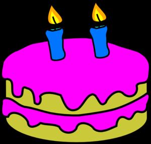 300x285 Birthday Cake 2 Candles Clip Art