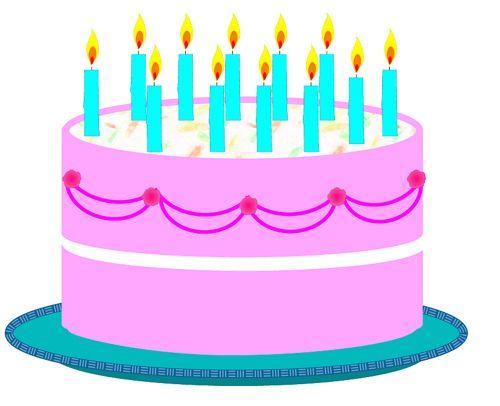 500x406 Birthday Cake Clip Art birthday cake pictures clip art Birthday
