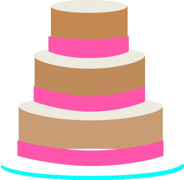 600x587 Clipart Wedding Cake