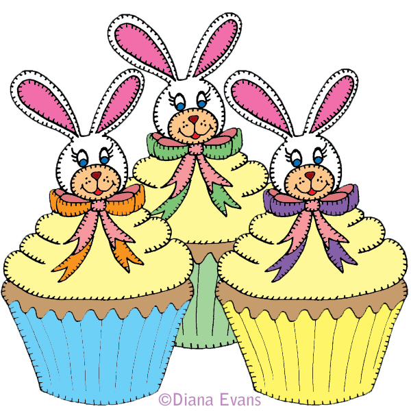 600x600 Easter cakes clipart