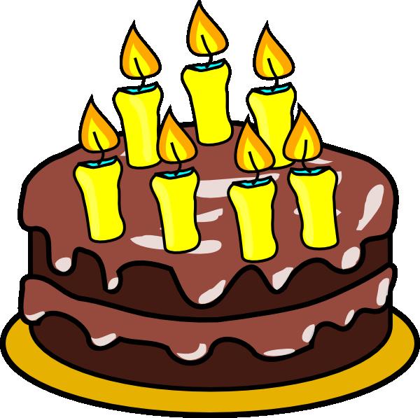 600x597 7th Birthday Cake Clip Art