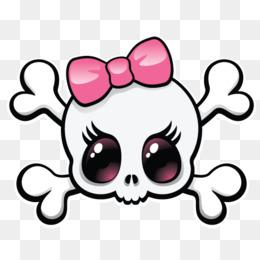 260x260 Calavera Skull Girly Girl Clip Art
