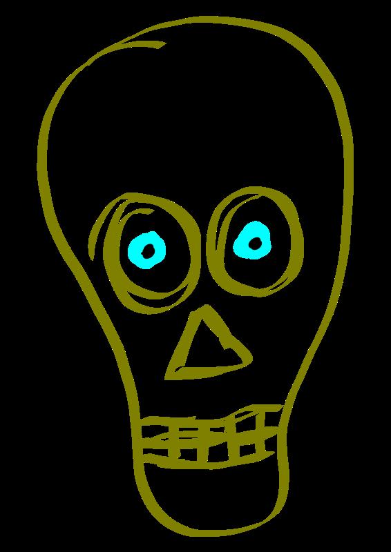 566x800 Free Clipart Skull, Calavera Marcelolopez