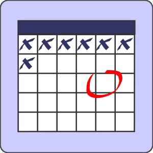 300x300 Calendar With Note Clip Art Free Vector 4vector