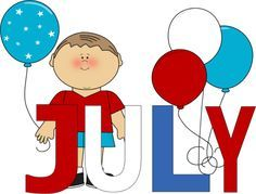 236x179 Free Month Clip Art Red White And Blue July Clip Art Image