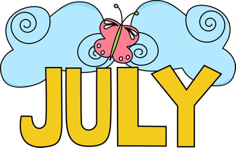 800x502 July Clipart Free Printable Calendar