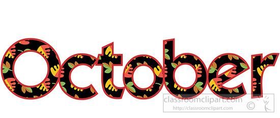 550x232 October Black Cats Clip Art Months Cats