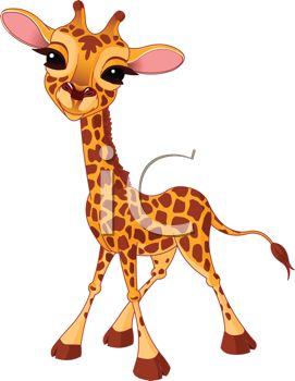 271x350 Picture Of A Giraffe Calf Cartoon With A Cute Face In A Vector