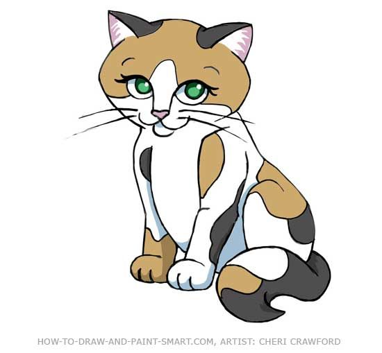 550x509 Calico Cat Clip Art Crazy Cat Lady Draw