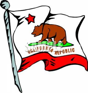 California Flag Clipart