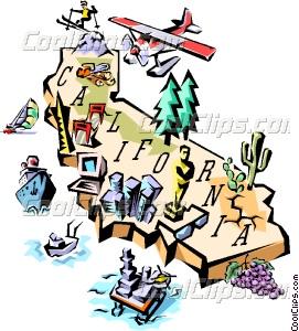 271x300 Clipart California Map