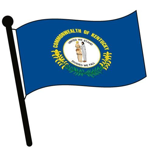 500x500 Kentucky Waving Flag Clip Art