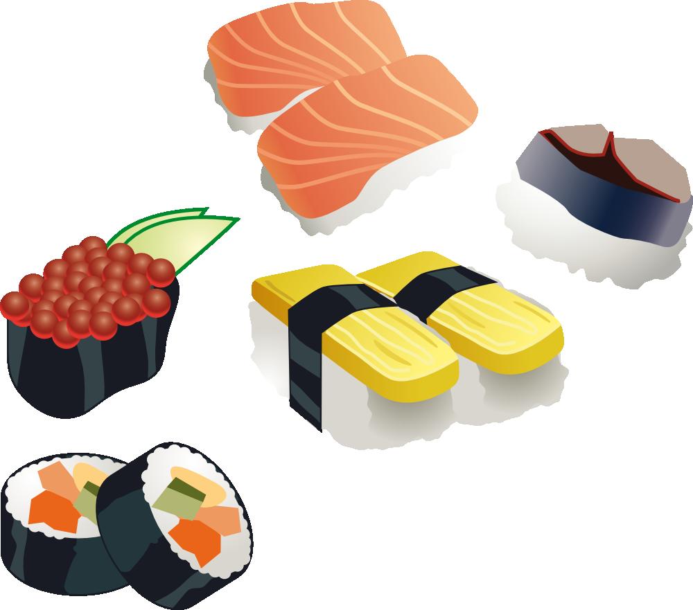 1000x881 Sushi Set. Flag This Clip Art Clipart Panda
