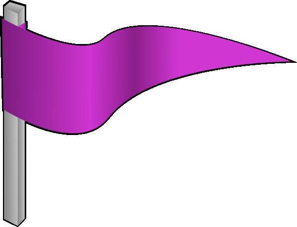 600x459 Waving Purple Flag Clip Art