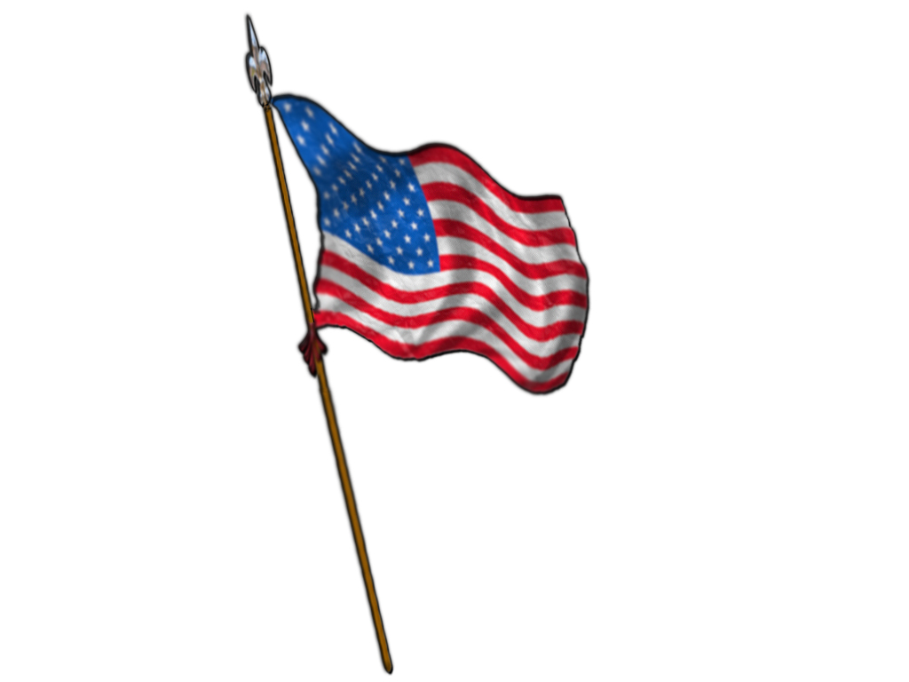 1024x768 American Flag Clipart Untied States