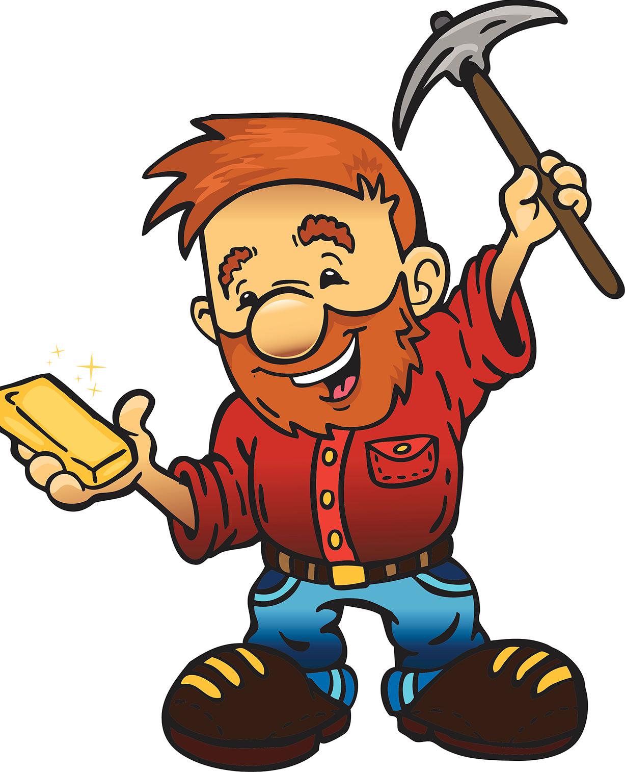 1227x1514 California Gold Rush Gold Miner 8bit Gold Mining Cartoon