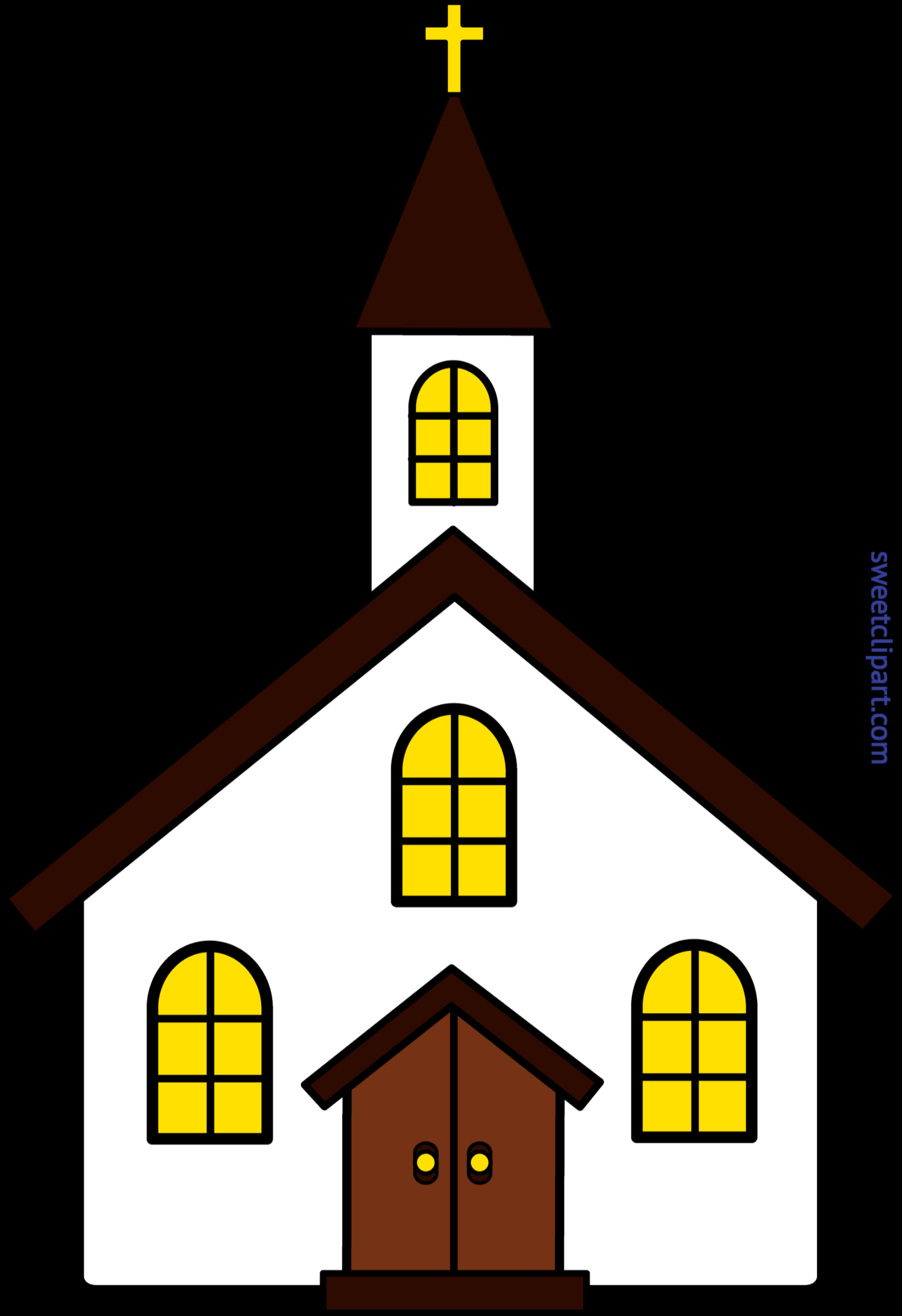 4543x6626 Church Clip Art