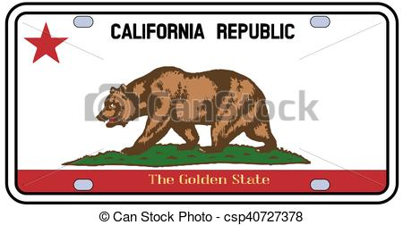 450x252 California License Plate Flag. California License Plate