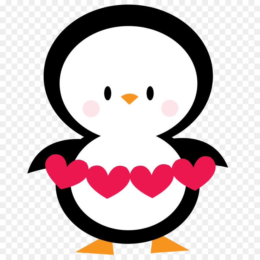 900x900 Penguin Valentine's Day Heart Clip Art