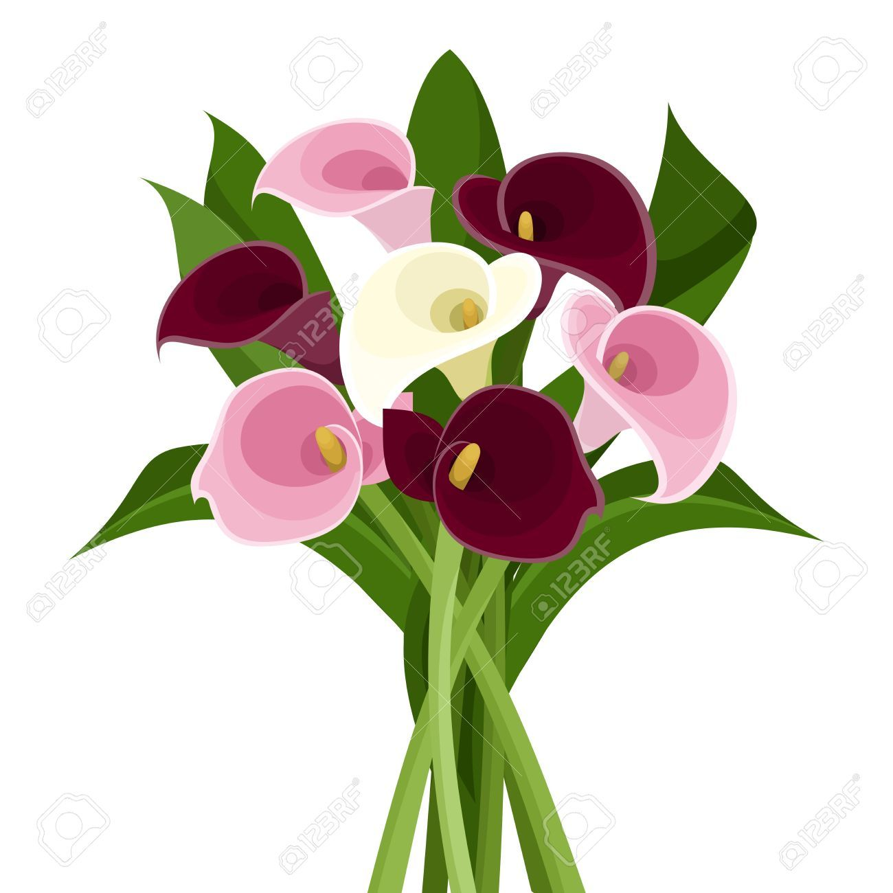1300x1300 Image Result For Calla Lilies Silhouette Clipart Flower