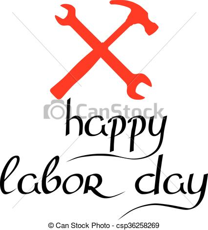 426x470 International Labor Day On May 1st. Calligraphy And Clip Art
