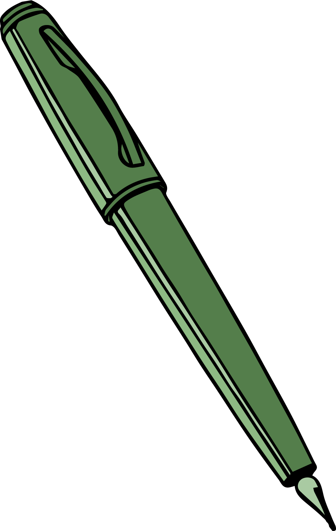1074x1696 Calligraphy Pen Clipart Png