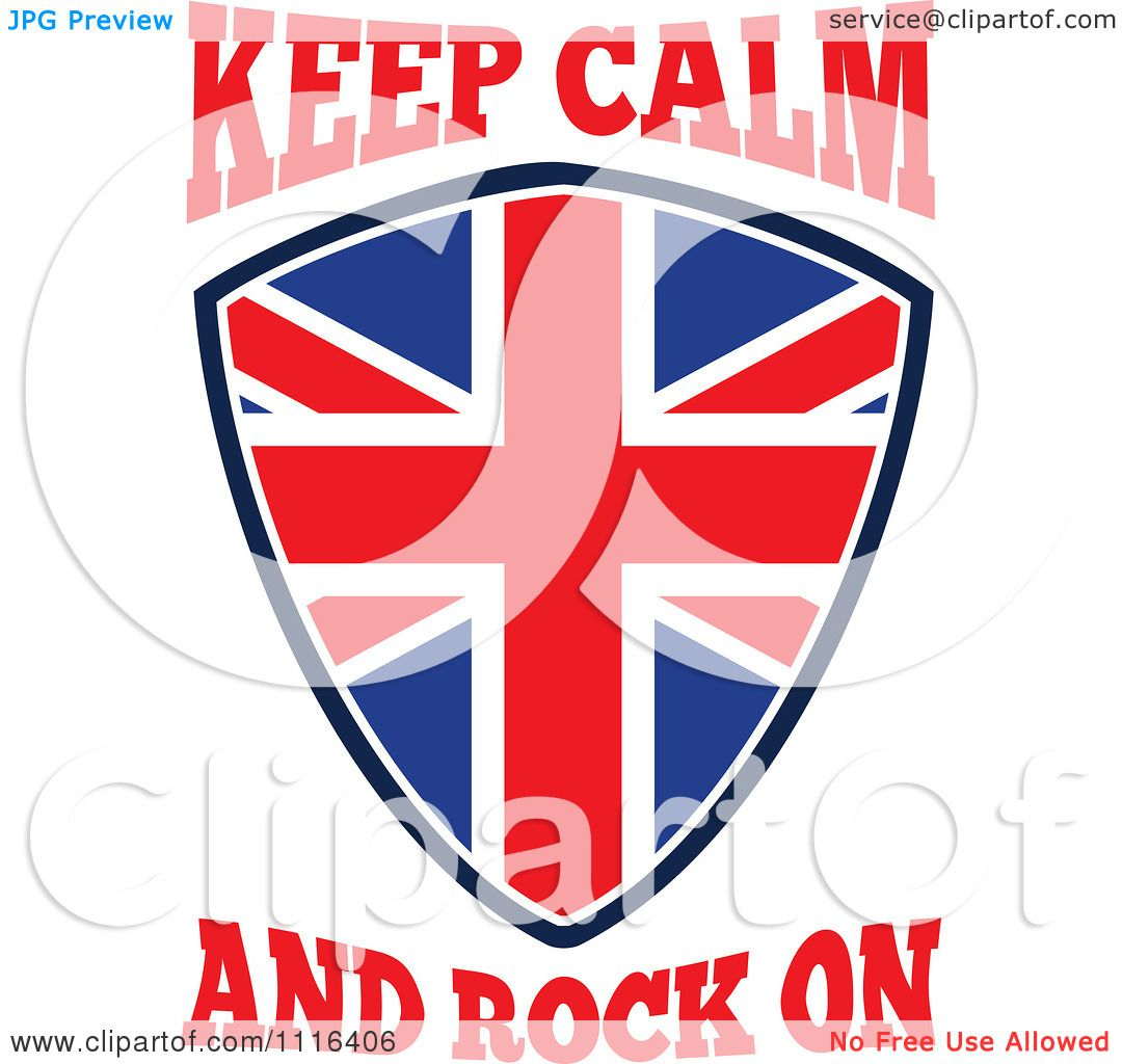 1080x1024 Clipart Union Jack British Flag Shield With Keep Calm And Rock