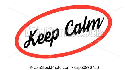 450x246 Keep Calm Rubber Stamp. Grunge Design With Dust Scratches