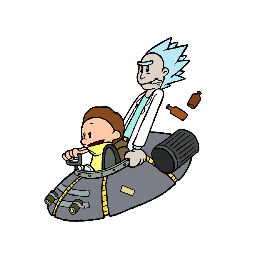 824x818 Calvin And Hobbes Vs Rick And Morty Rickandmorty