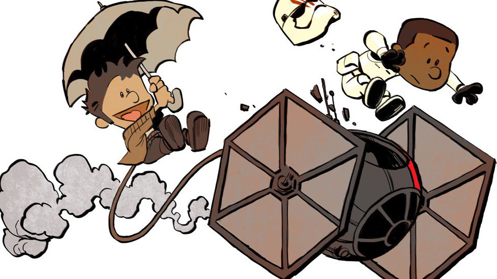 970x545 The Force Awakens Meets Calvin And Hobbes In This Delightful Art