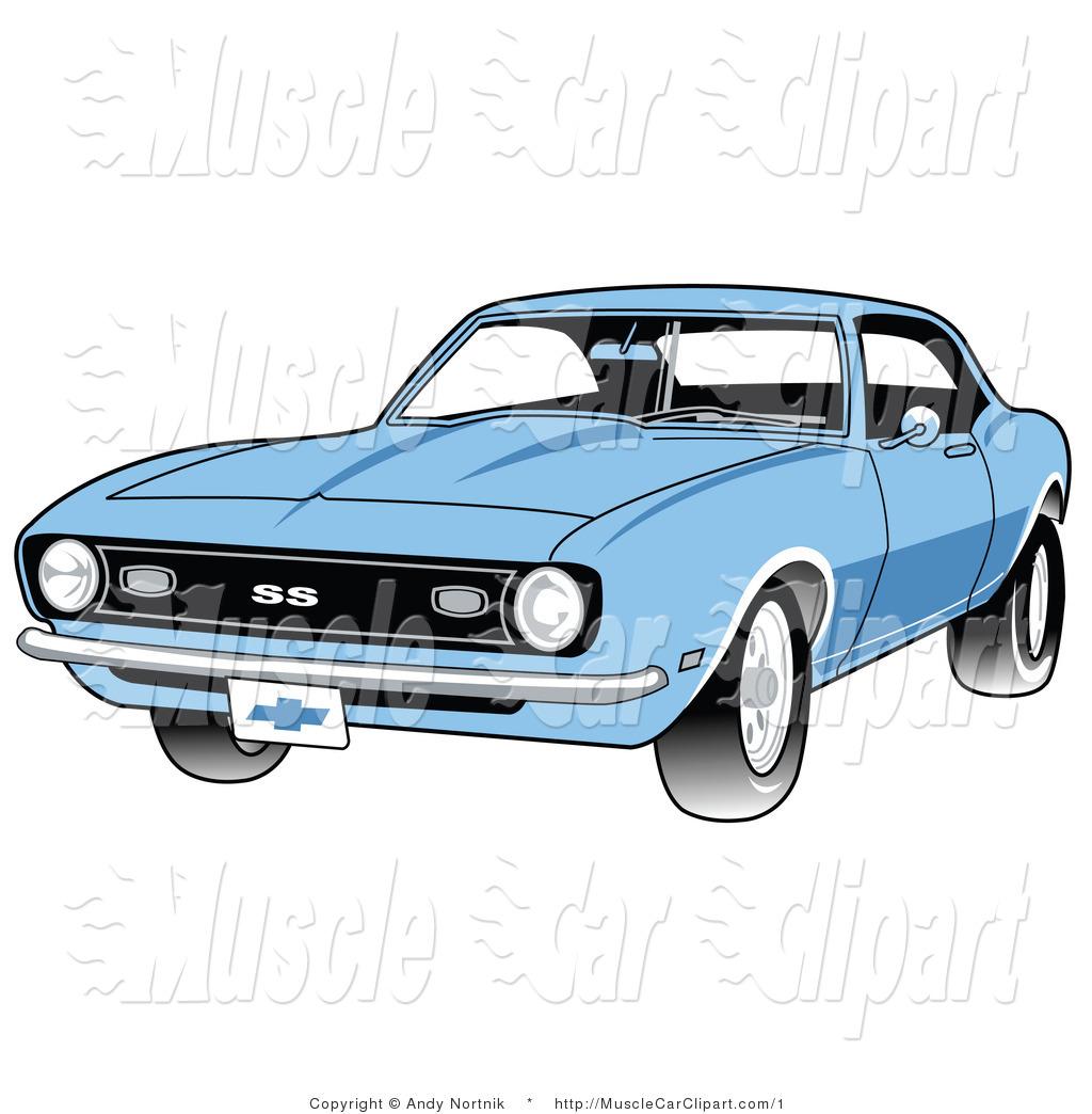 1024x1044 Vector Automotive Clipart Of A Blue 1968 Chevrolet Ss Camaro