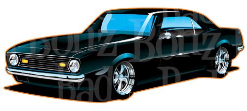 500x225 67 Camaro Clipart