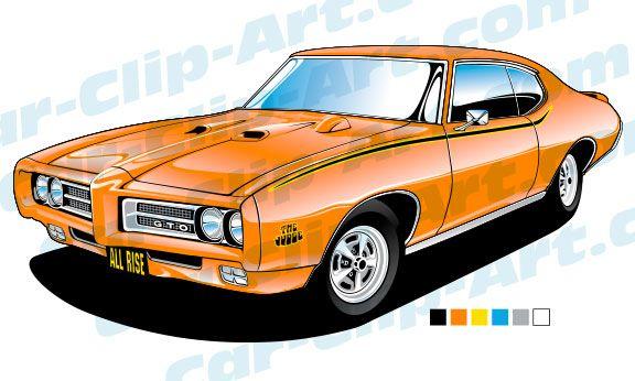 576x346 Pontiac Gto Judge Vector Art Camaro Ss, Vector Art And Mustang