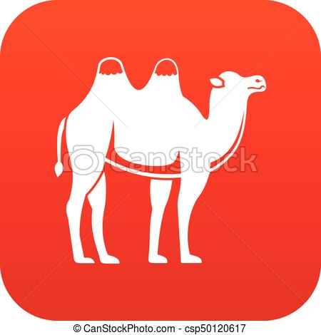 450x470 Camel Icon Digital Red For Any Design Isolated On White Vector